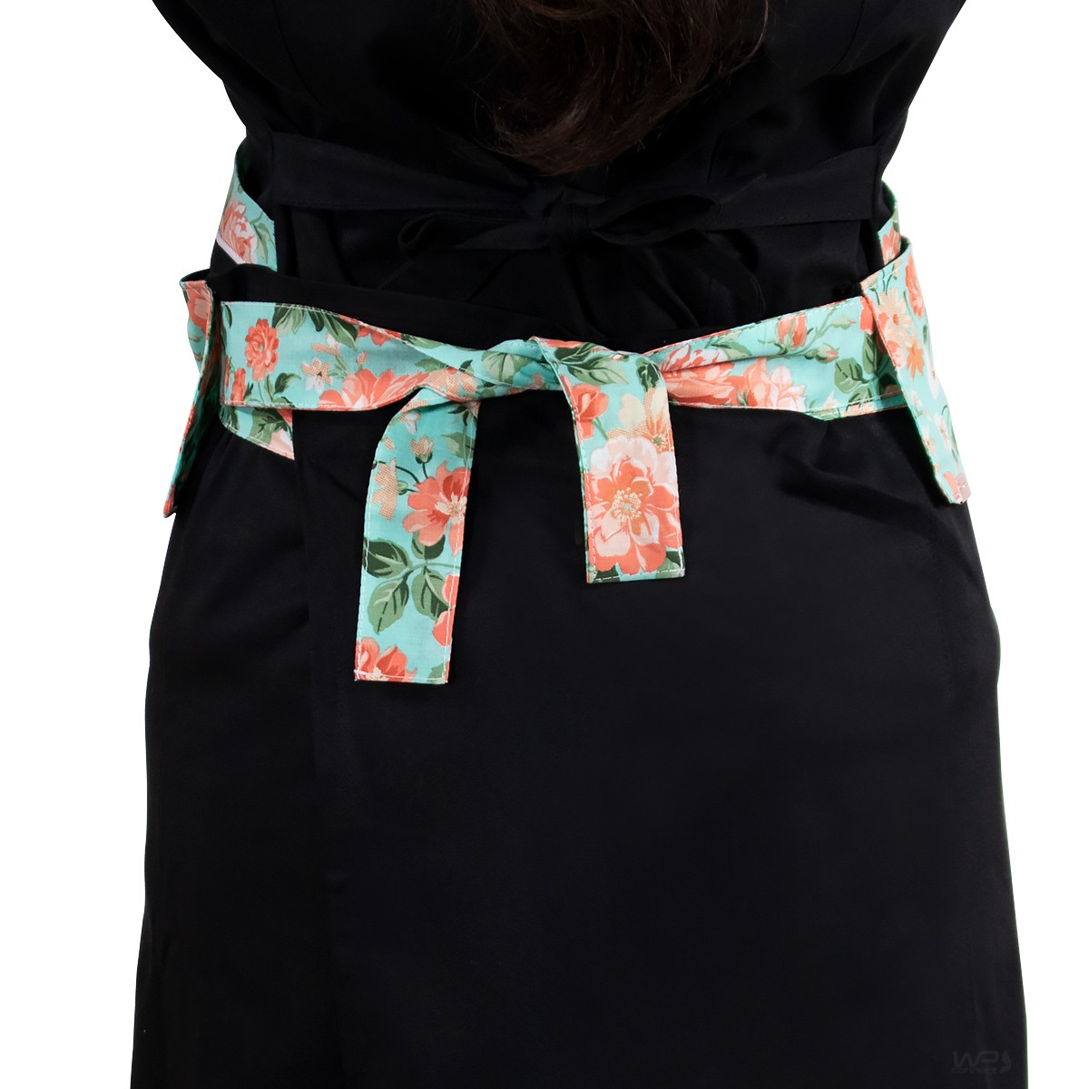 Avental de Cintura Chef de Cozinha Detalhe Floral Verde Tipo Saia