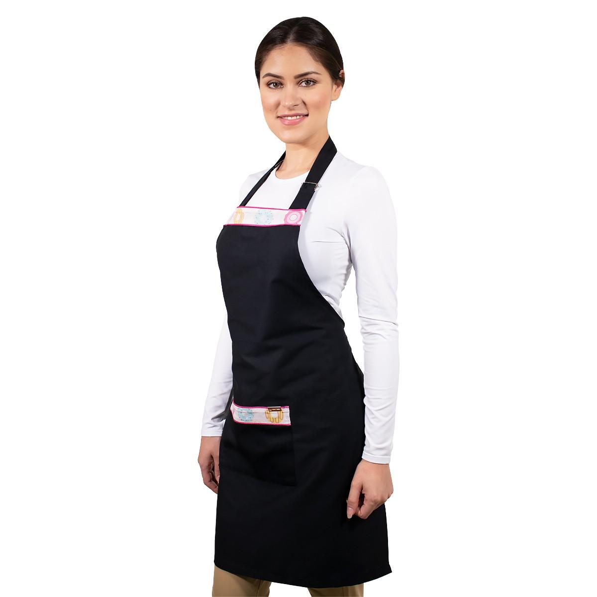 Avental de Cozinha com Bolso Corpo Inteiro Estampa Cupcake