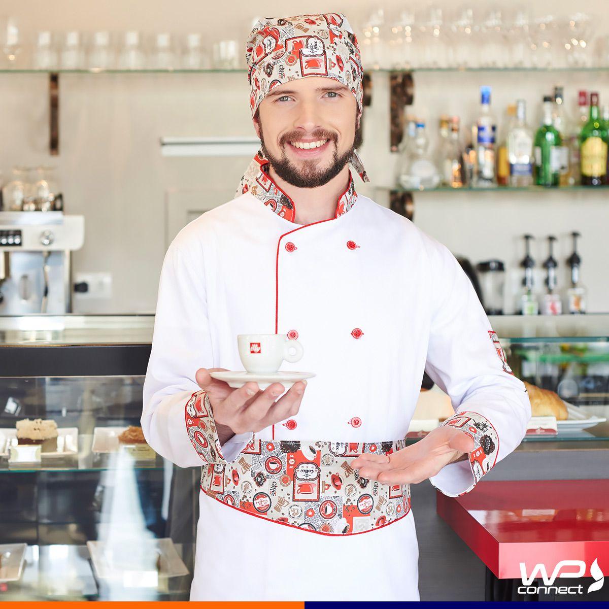 Bandana Chef Cafeteria Estampa de Café