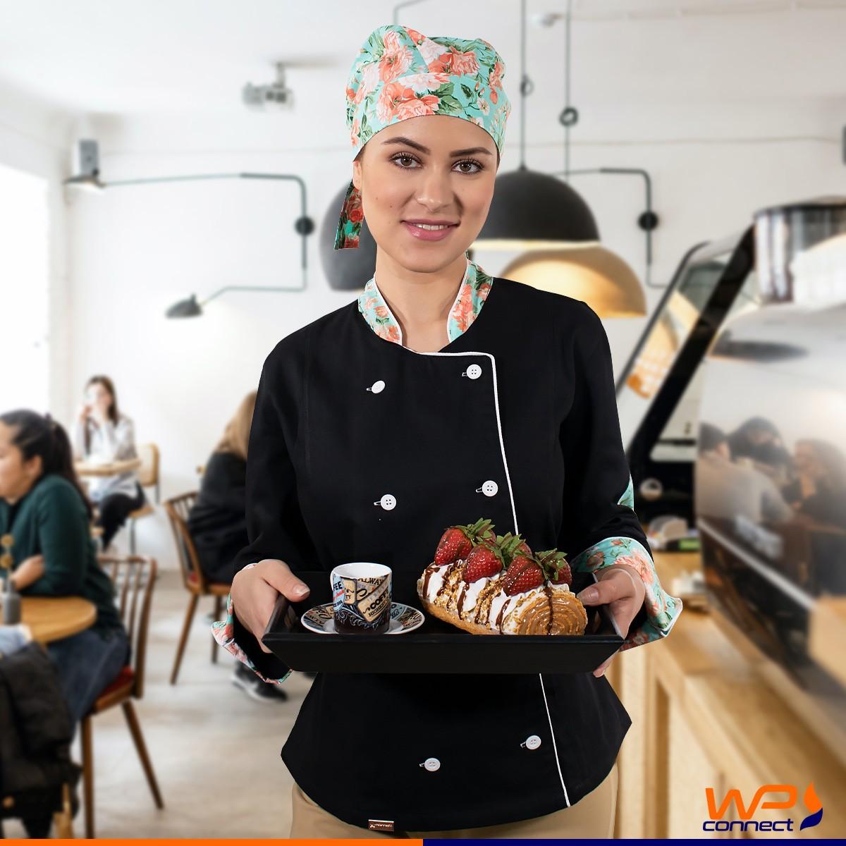 Bandana Chef de Cozinha Estampada Floral Verde Unissex