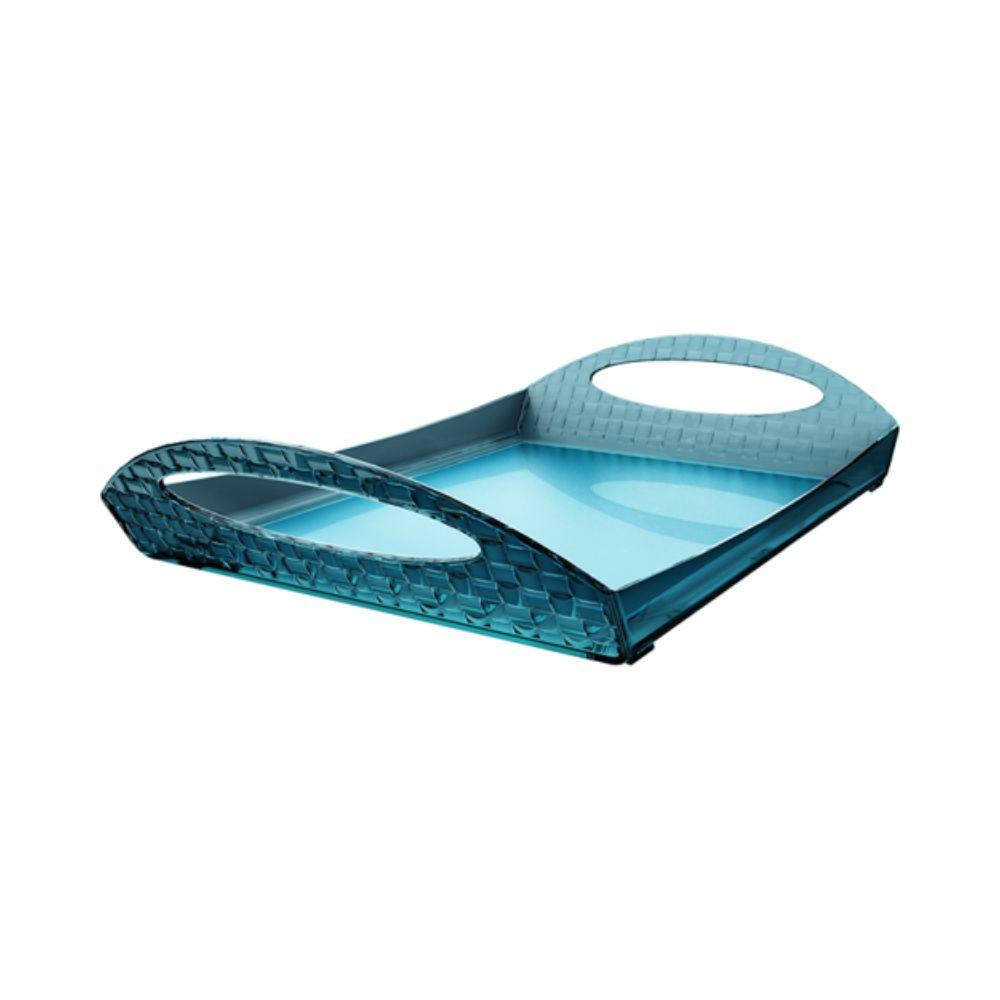 Bandeja Com Alças Para Café da Manhã Refeições - Azul Turquesa