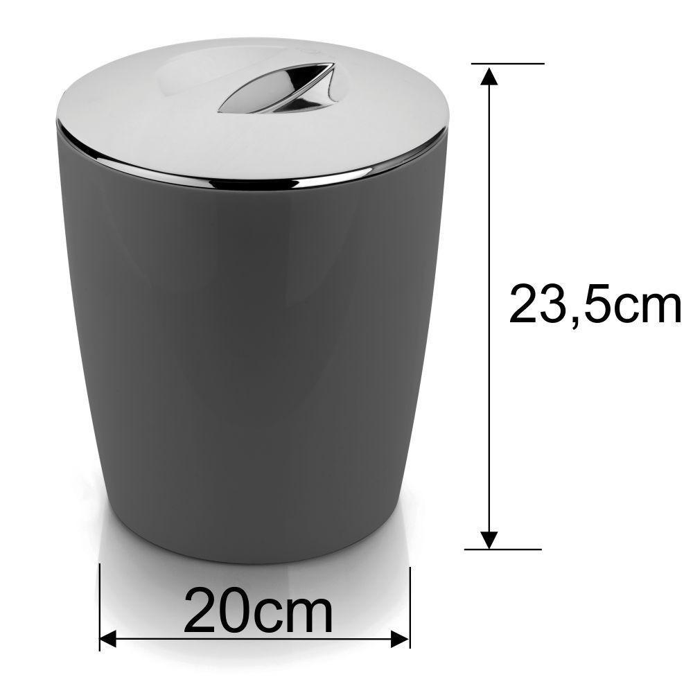 Banheiro Higienizado Kit Lixeira Com Porta Escova Sanitária