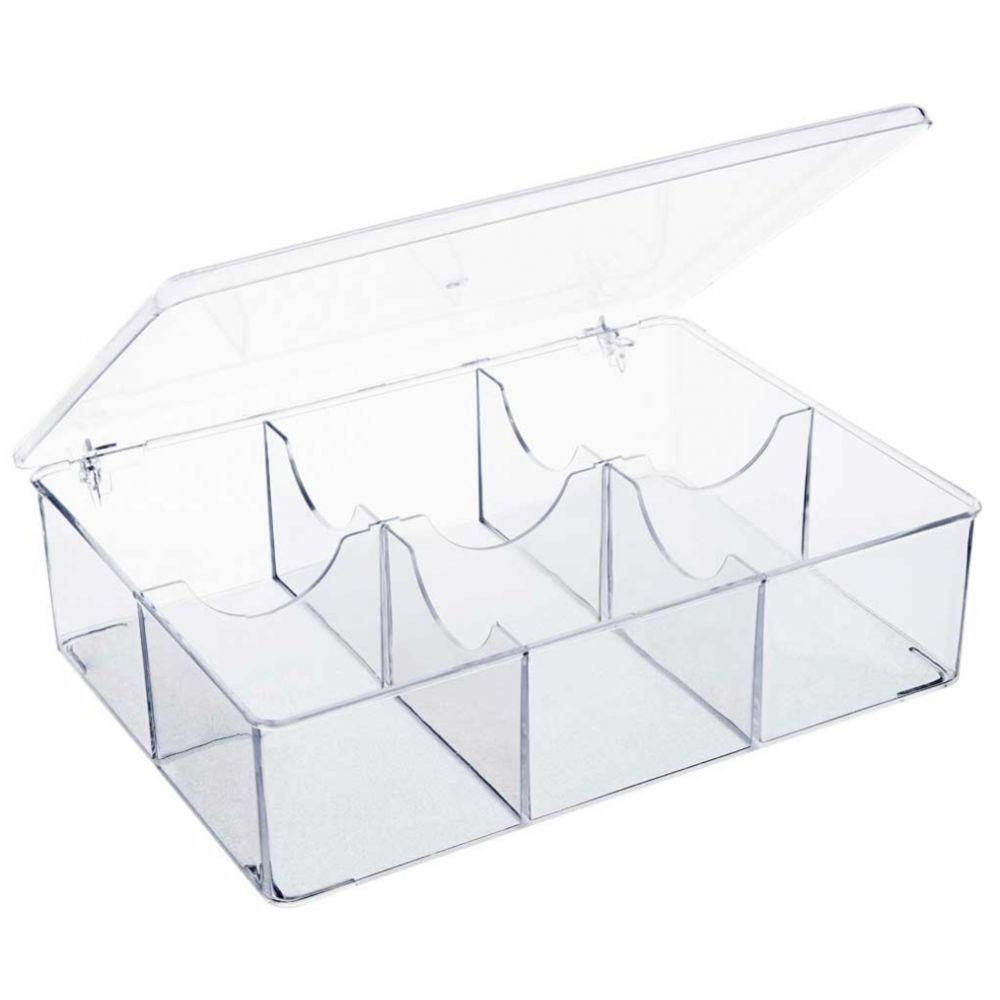Caixa Organizadora Com 6 Divisões Multiuso