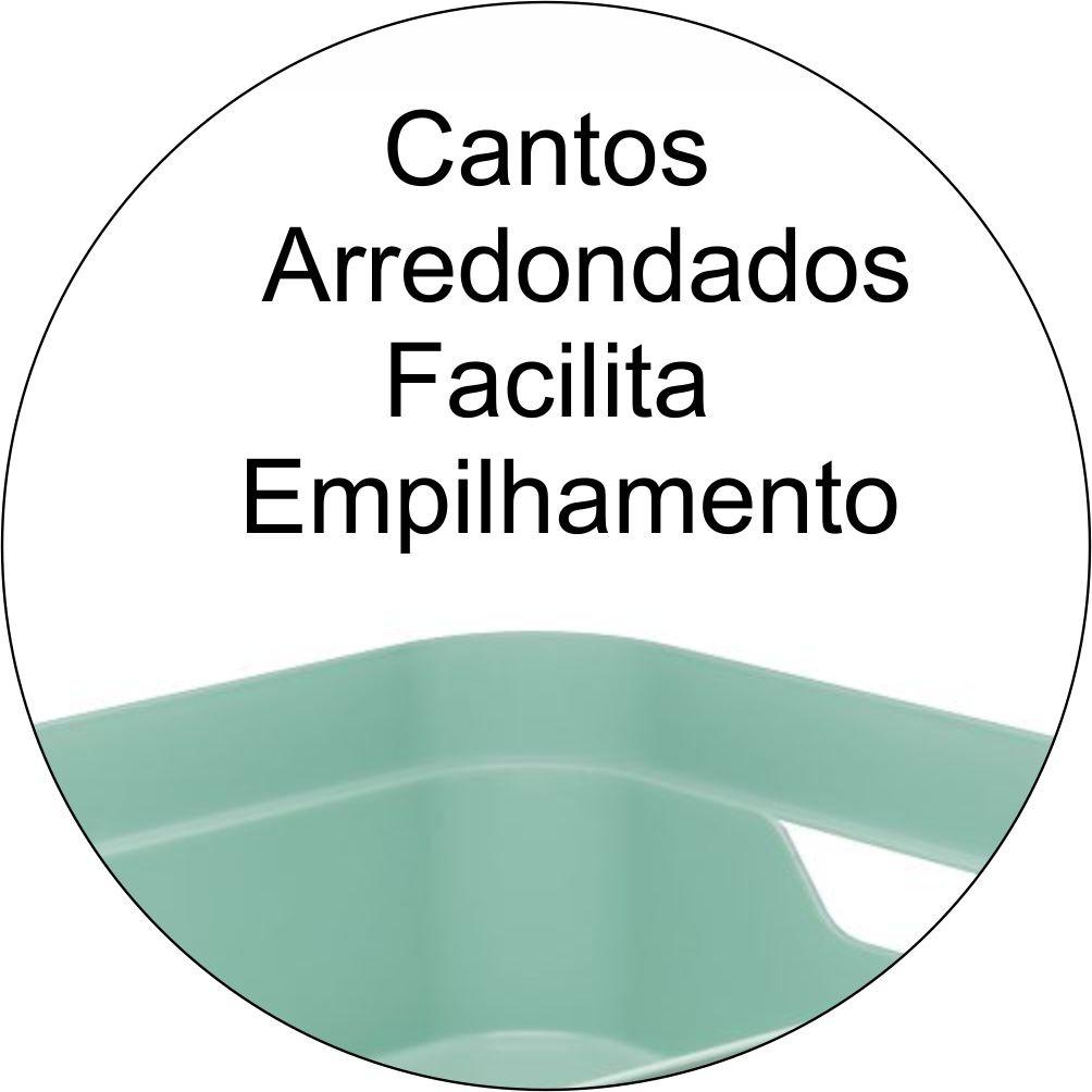 Caixa Organizadora Objetos Documentos Grande Verde