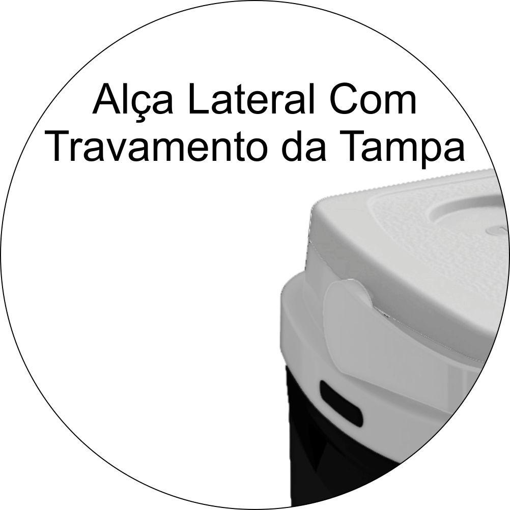 Caixa Térmica 12 Litros Com Porta Copos e Alça de Transporte - Preta