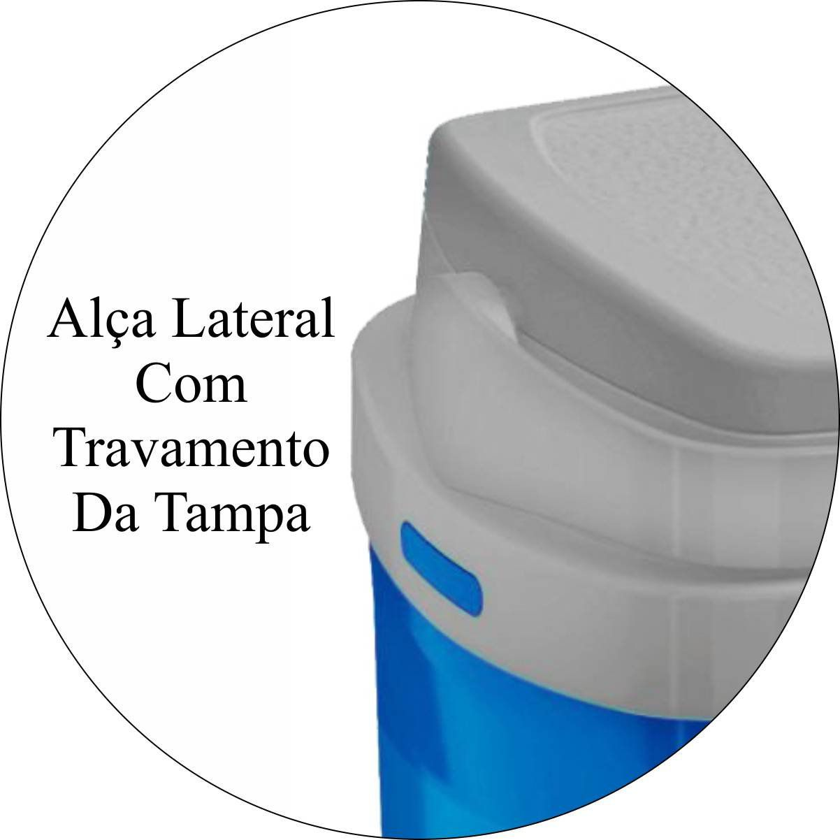 Caixa Térmica Tropical 5 L Com Alça de Transporte Praia - Azul