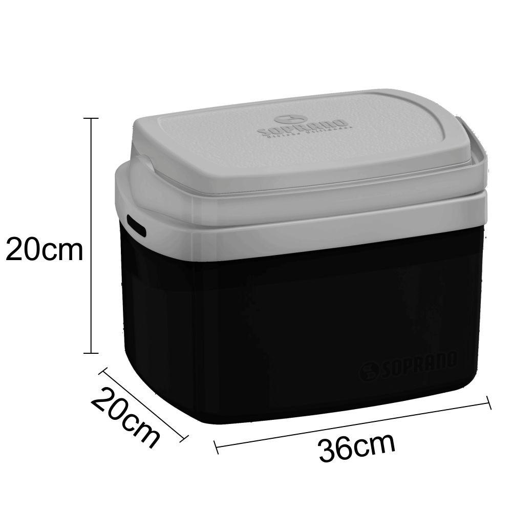 Caixa Térmica Tropical 5 Litros Com Alça Camping - Preta