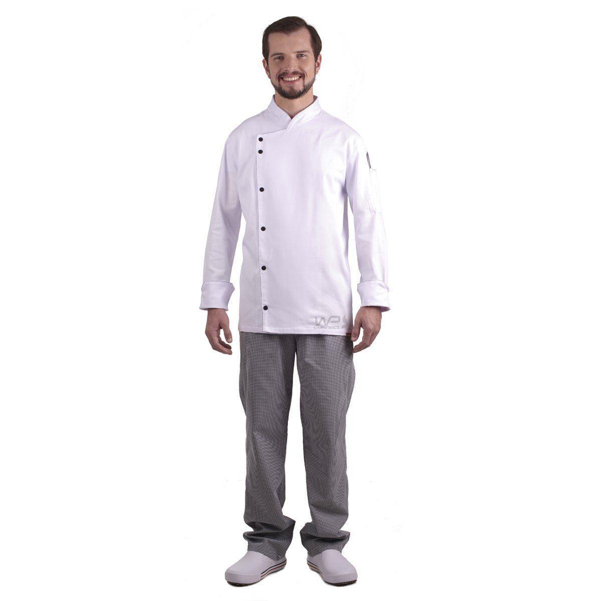 Calça Xadrez Chef de Cozinha Gastronomia Profissional