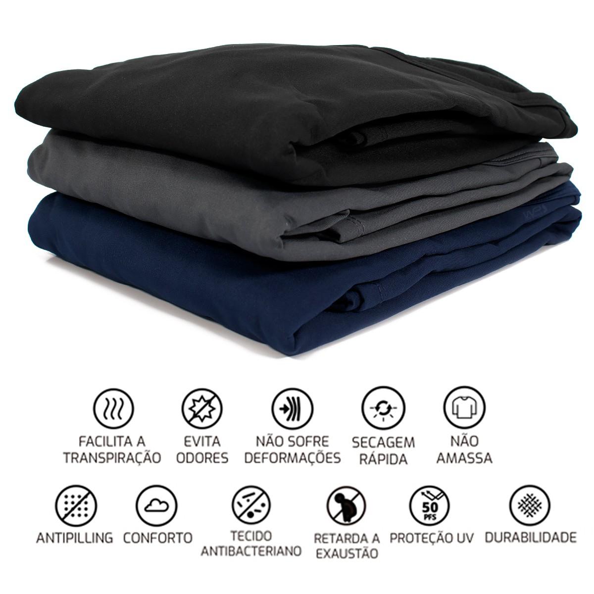 Camiseta Térmica Segunda Pele Masculina Proteção UV Thermo Fine