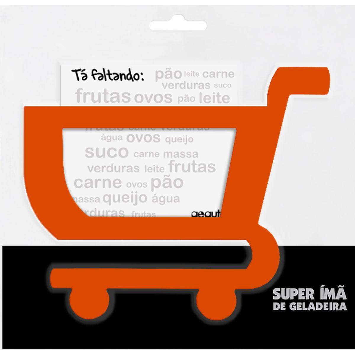 Carrinho de Compras Tá Faltando Super Ímã de Geladeira - Laranja
