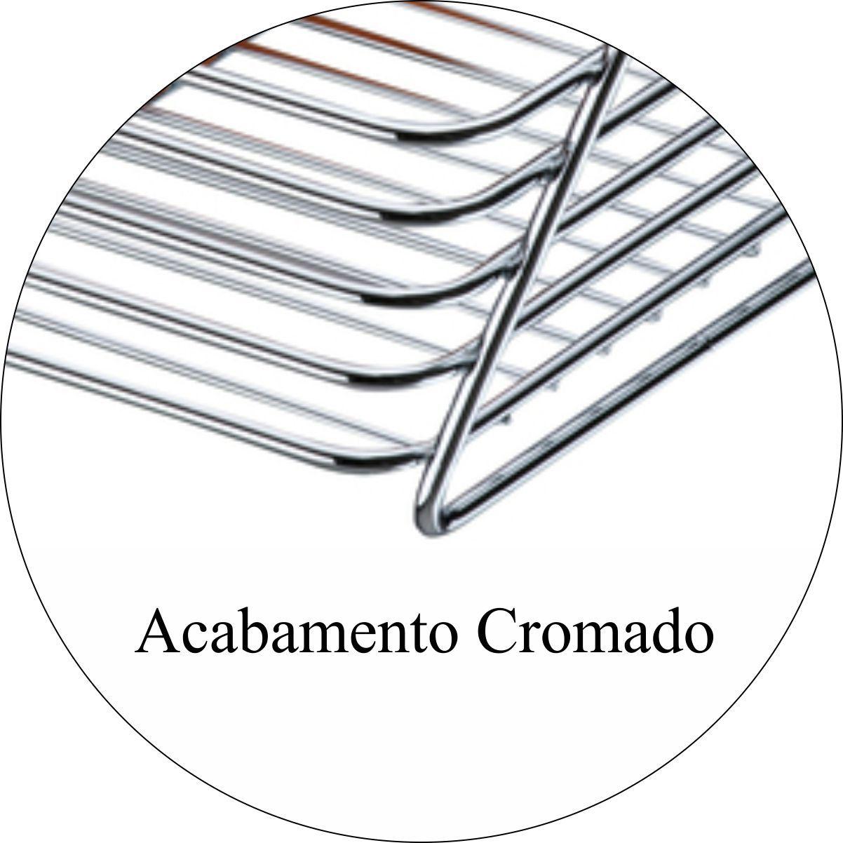 Cesto Multiuso De Bancada 31 x 23 cm - Cromado