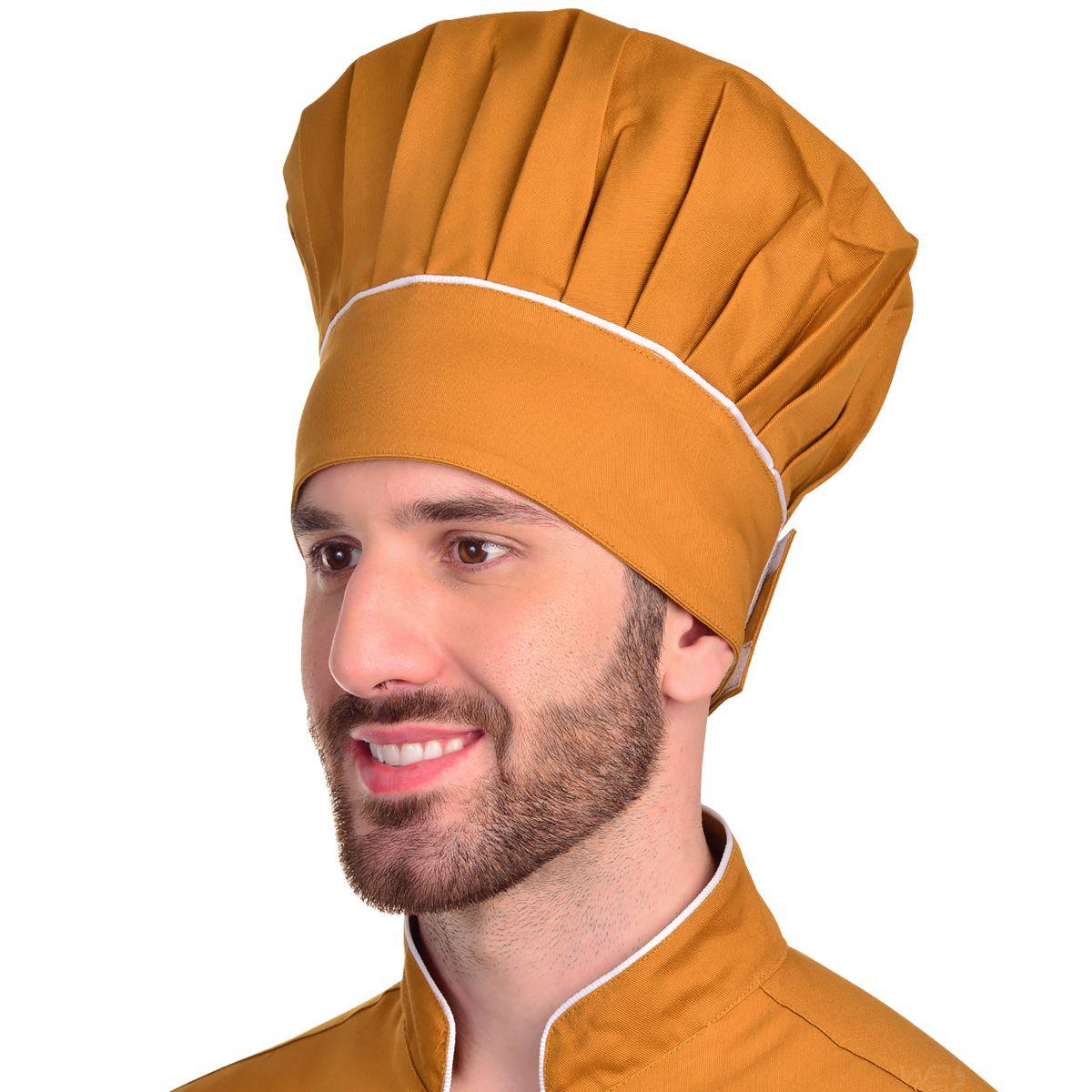 Chapéu Chef de Cozinha Mestre Cuca Terracota
