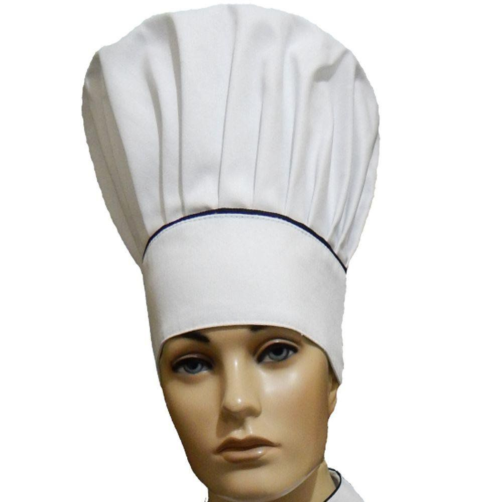 Chapéu Mestre Cuca Chef de Cozinha Tradicional - Branco