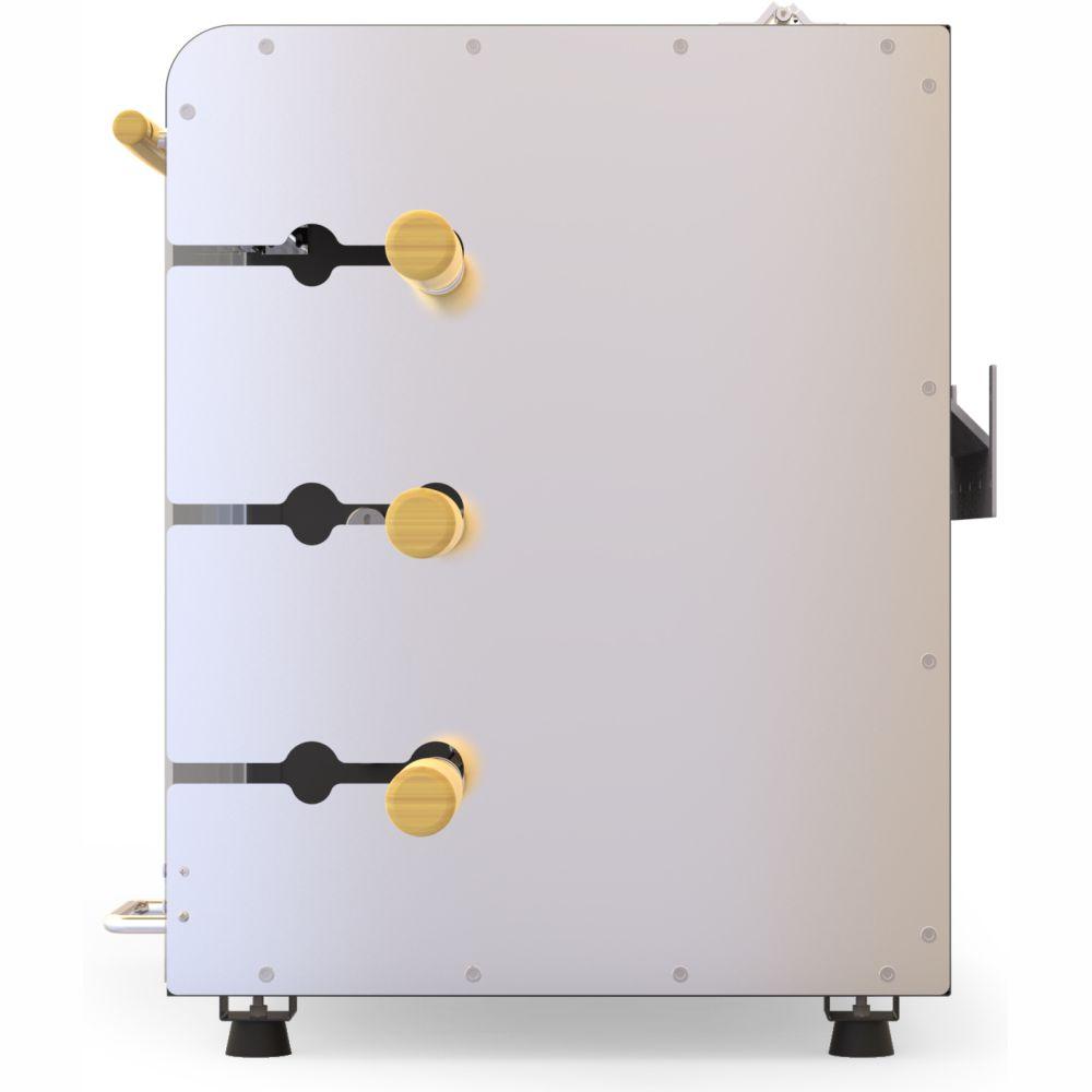 Churrasqueira a Gás Rotativa 3 espetos Acendimento Automático Rechaud - Preta