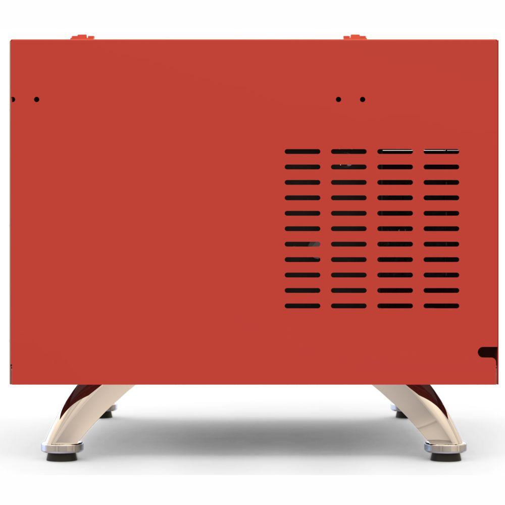 Churrasqueira Elétrica Horizontal 03 Espetos Com Rechaud -  Vermelha