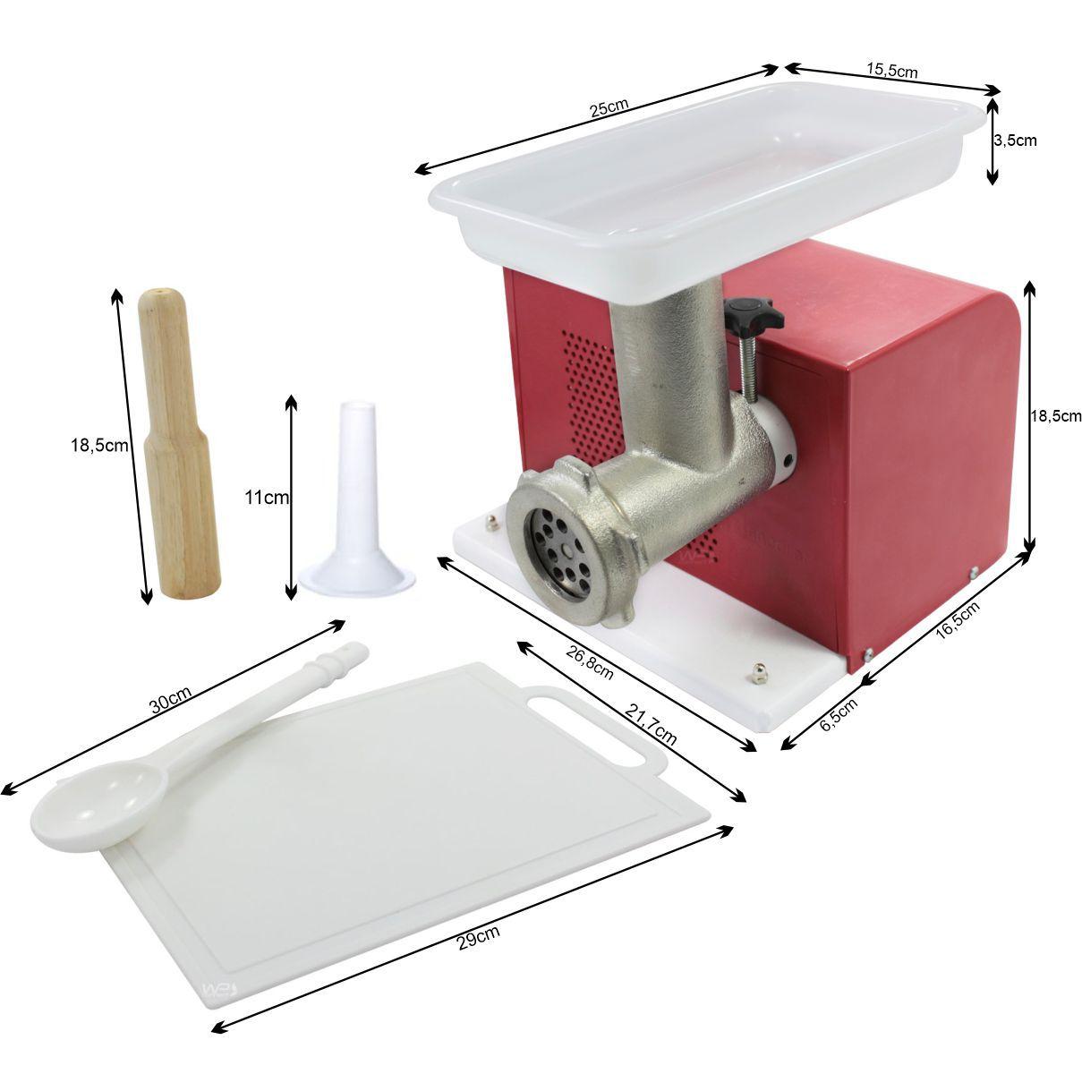 Máquina de Moer Carne Bocal 05 Elétrica - Vermelho