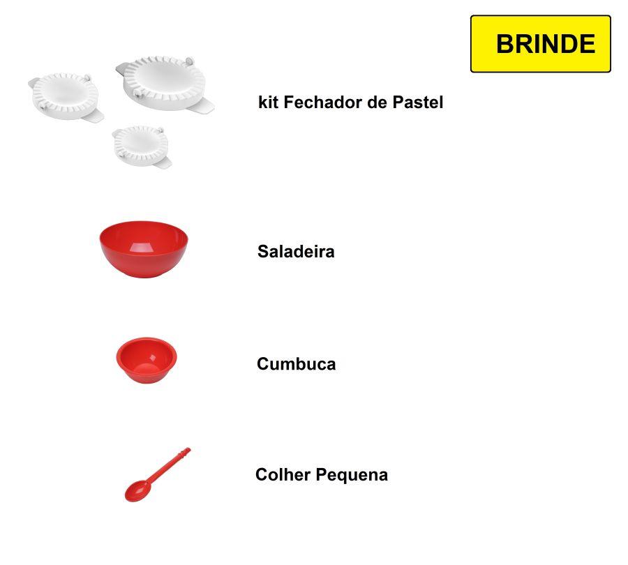 Cilindro Laminador Elétrico 28cm Com Cortador De Talharim - Vermelho