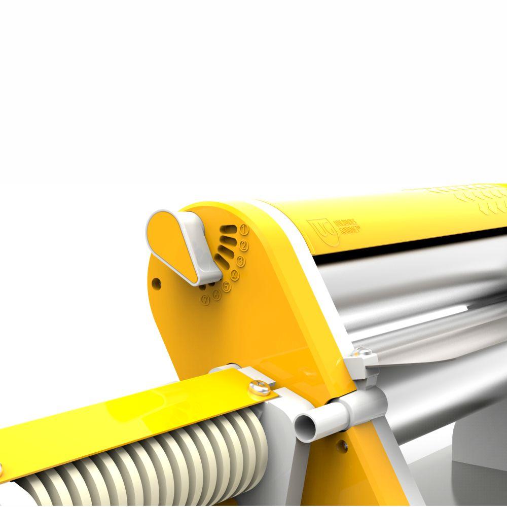 Cilindro Manual Cromado Com Cortador De Talharim - Amarelo