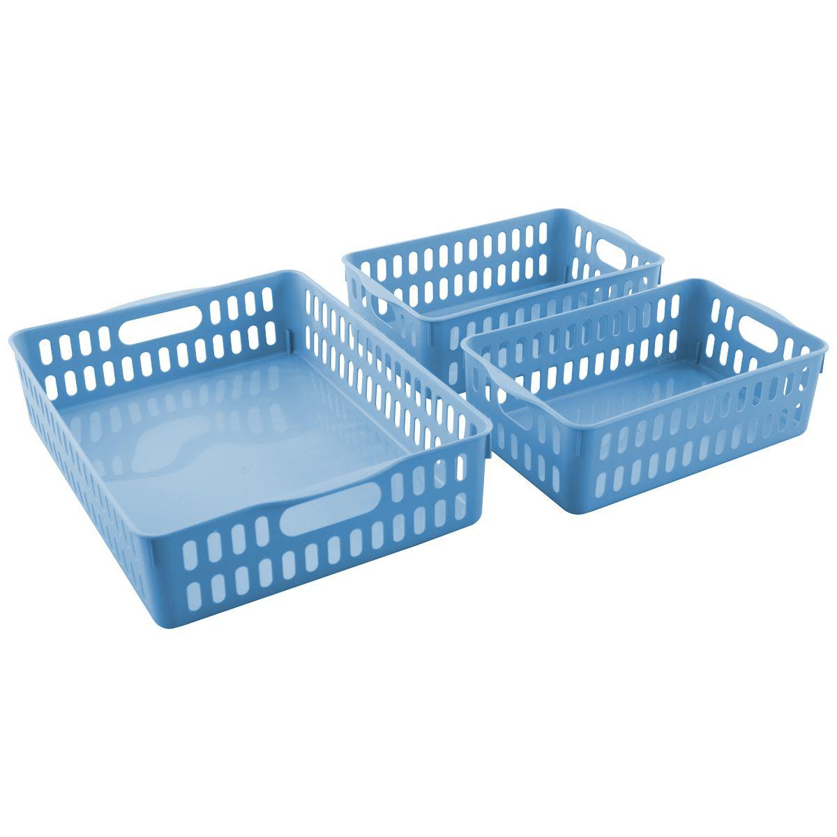 Conjunto 3 Cestos Organizadores Multiuso Pequeno e Grande - Wp Connect