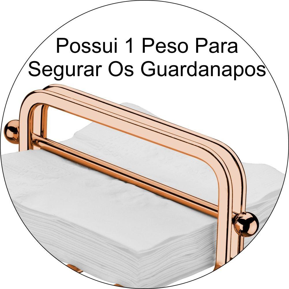 Conjunto 4 Porta Guardanapos Mesa de Jantar Acabamento Cobre