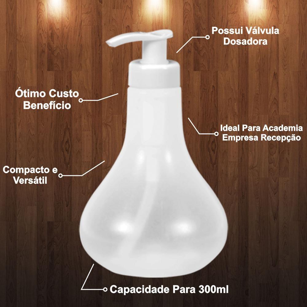 Conjunto 10 Porta Sabonete Líquido Álcool Gel 300ml Pêra