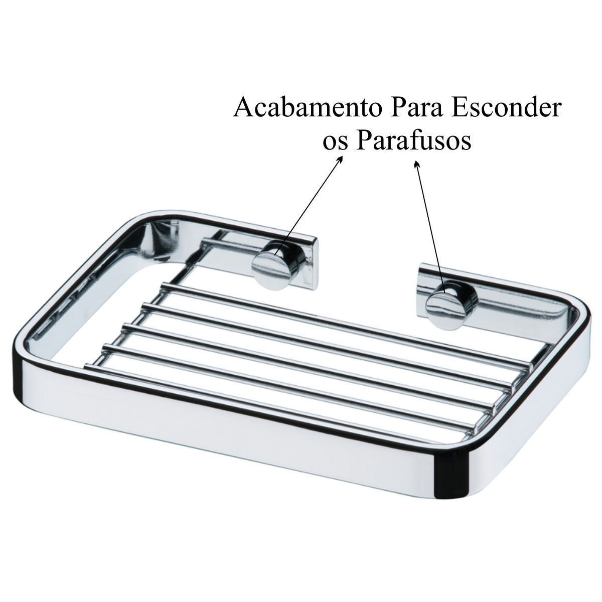 Conjunto Acessórios Banheiro 4 Peças Cabide Saboneteira - Cromado