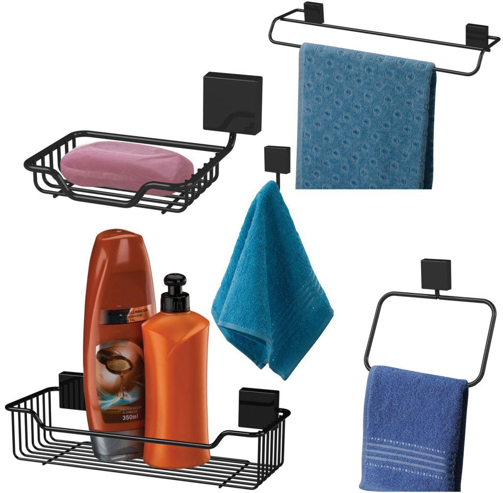 Conjunto Acessórios Fixação Parafuso 5 Peças Banheiro