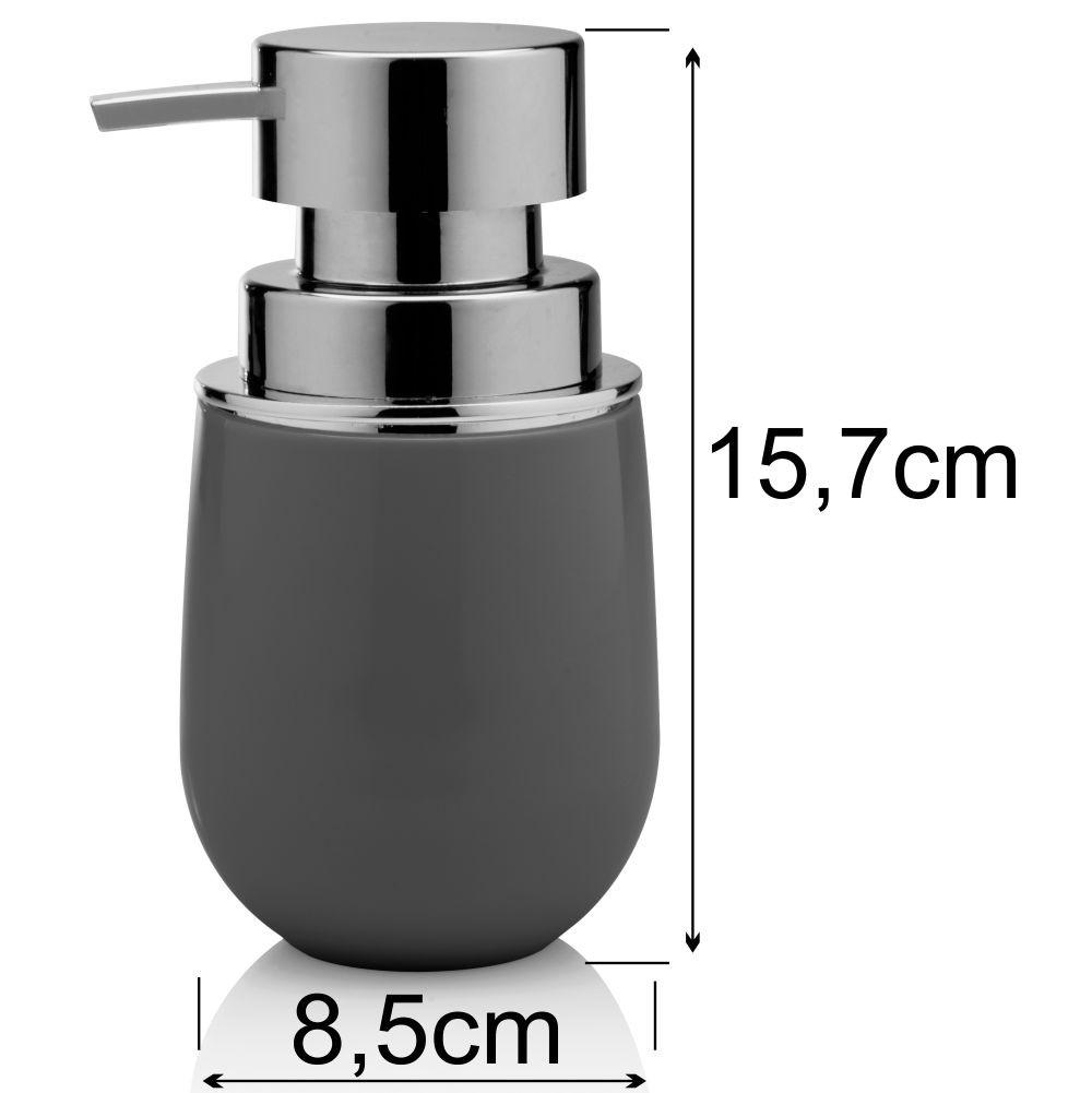 Conjunto Acessórios Sobre Pia Banheiro 4 Peças Belly Chumbo