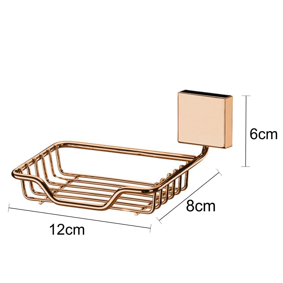 Conjunto Banheiro Cobre Rosé Gold 10 Peças Fixação Parafuso