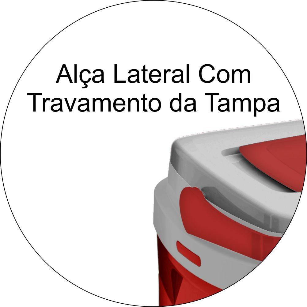 Combo Kit 3 Caixas Térmicas de 32,12 e 5 Litros - Vermelho