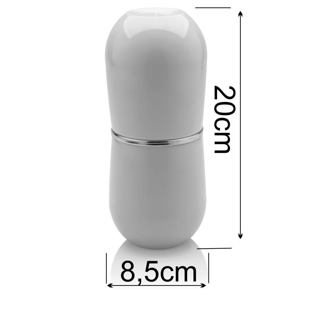 Kit Completo Conjunto Sobre Pia Banheiro 4 Peças - Branco