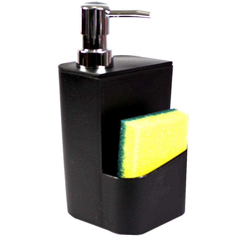Conjunto dispenser detergente com lixeira basculante