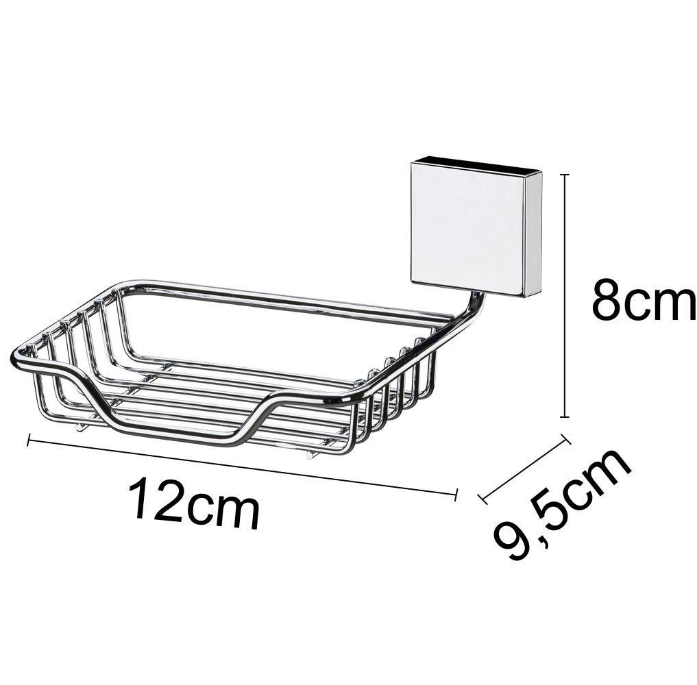 Conjunto Para Banheiro Future Fixação Parafuso 3 Peças Aço Inox