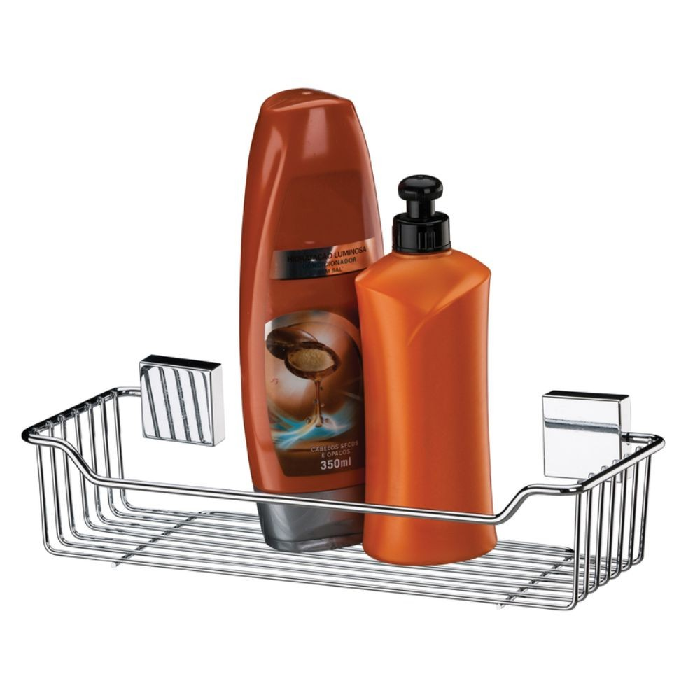 Porta Shampoo, Saboneteira, Papeleira e Gancho Aço Inox