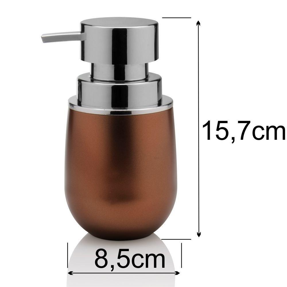 Conjunto Porta Algodão/Cotonete e Sabonete Líquido Cobre