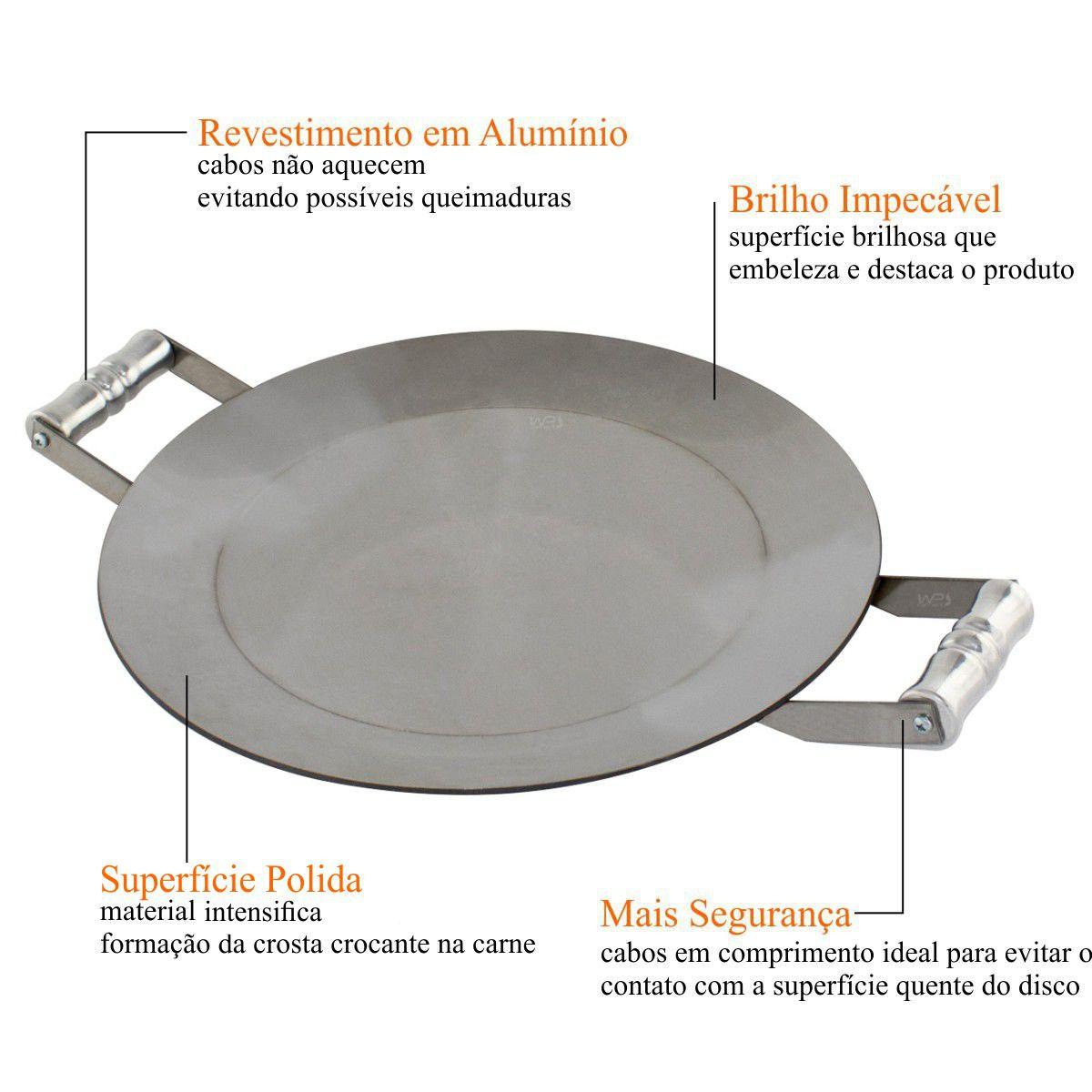 Disco de Arado Aço Inox Bifeteiro 40cm