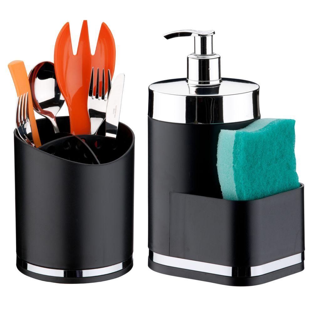 Dispenser Dosador P/ Detergente + Escorredor Porta Talheres