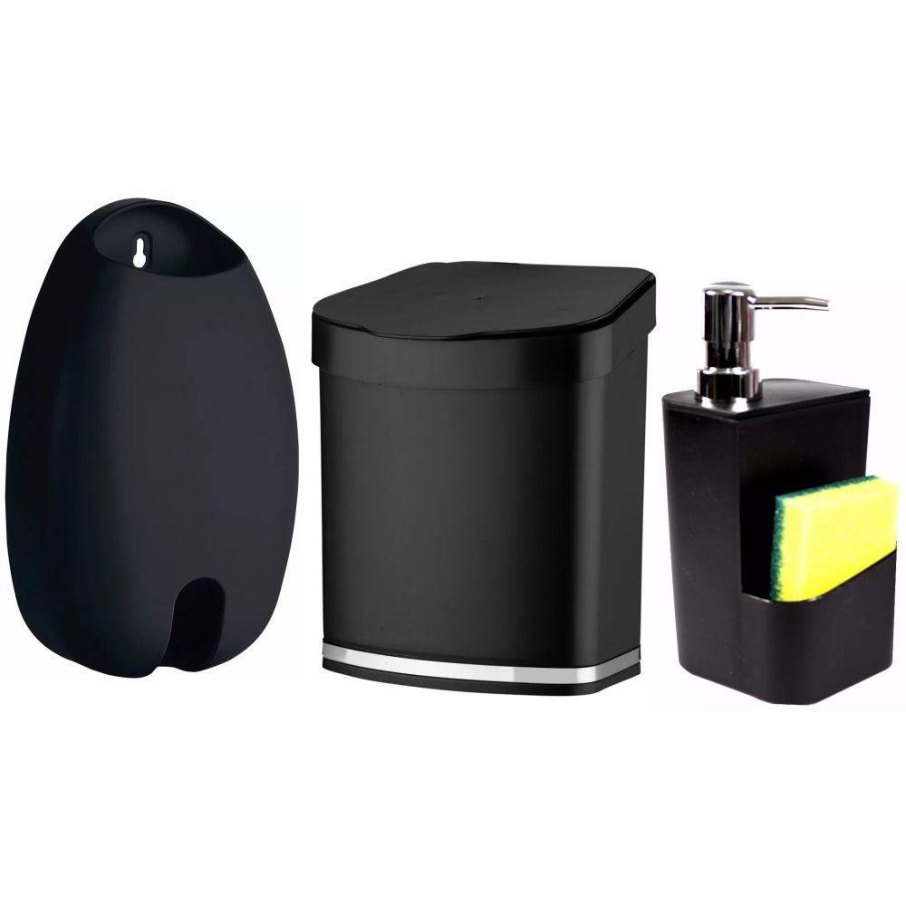 Dispenser P/ Detergente Organizador de Sacolas Lixeira 2,5L