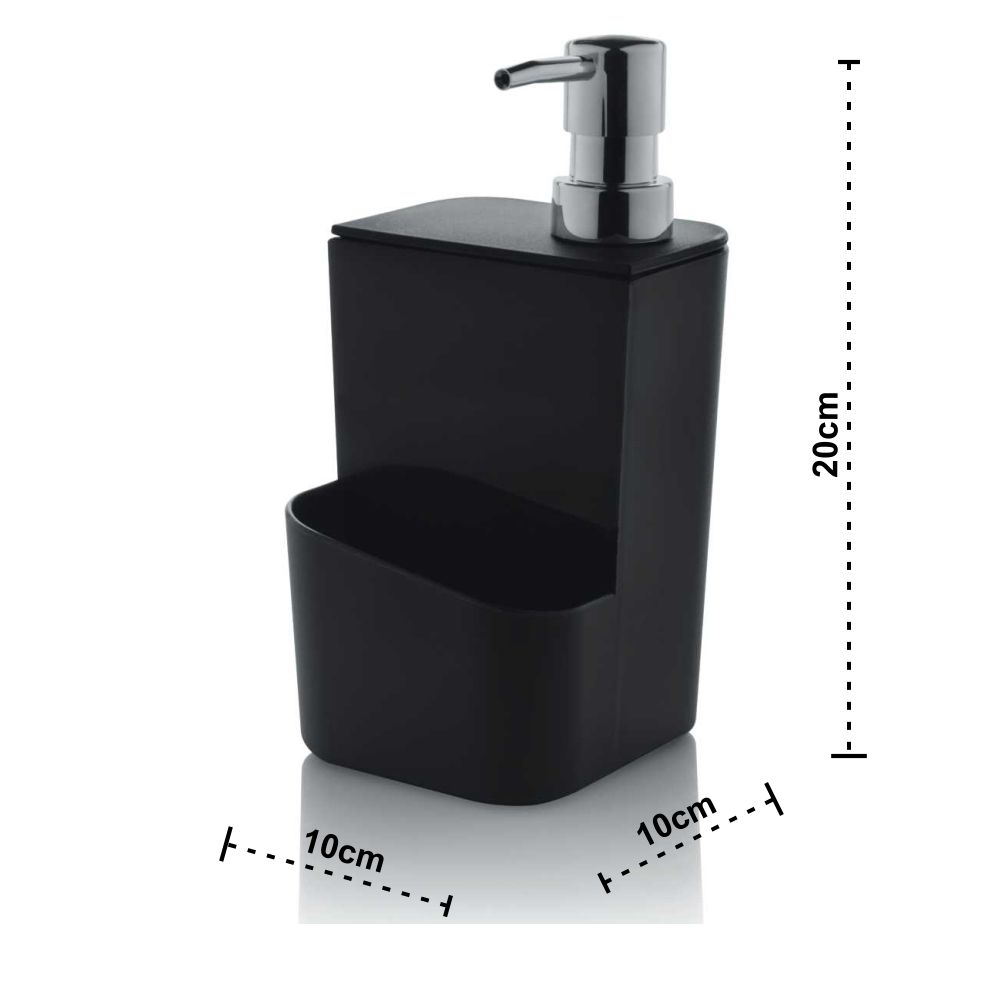 Dispenser Para Detergente E Esponja 650ml - Preto