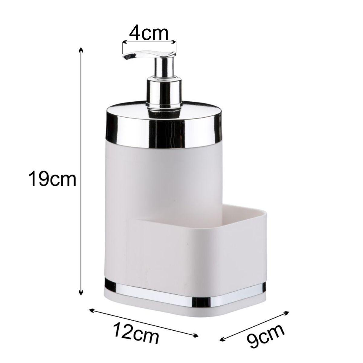 Dispenser Para Detergente de Pia Em Plástico PS Eleganza - Branco