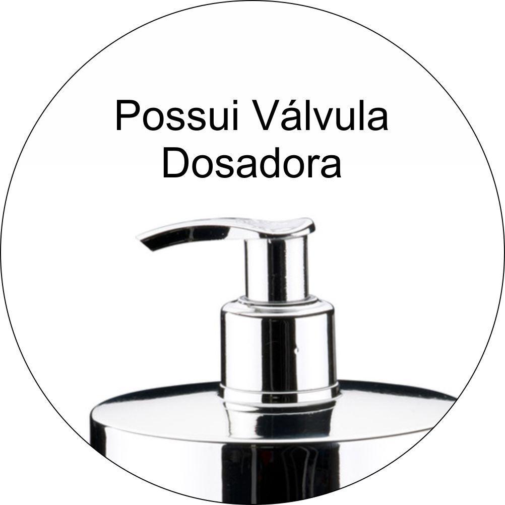 Dispenser Para Detergente de Pia Em Plástico PS Eleganza - Preto
