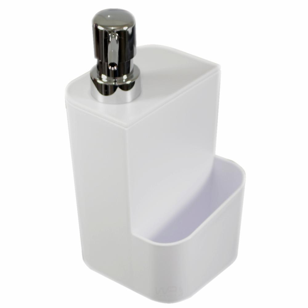 Dispenser Para Detergente E Esponja 650ml - Branco