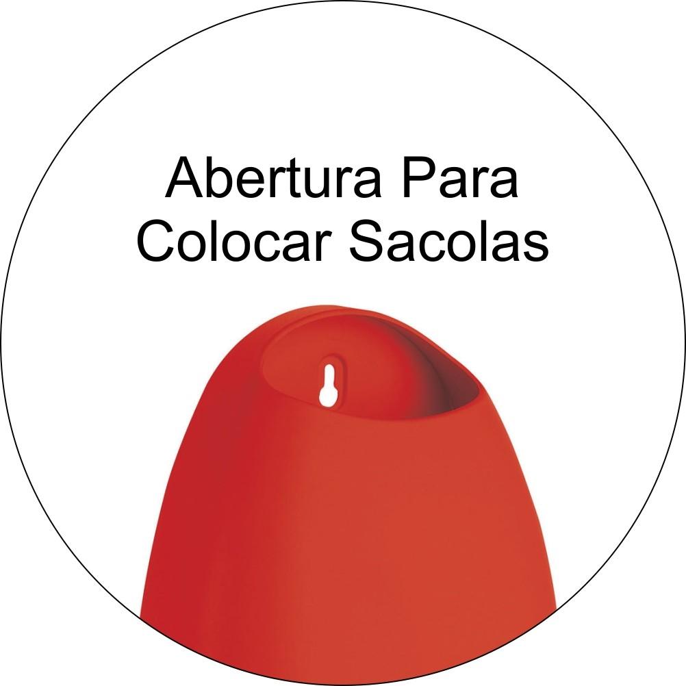 Dispenser Porta Sacolas Plásticas Puxa Saco - Vermelho