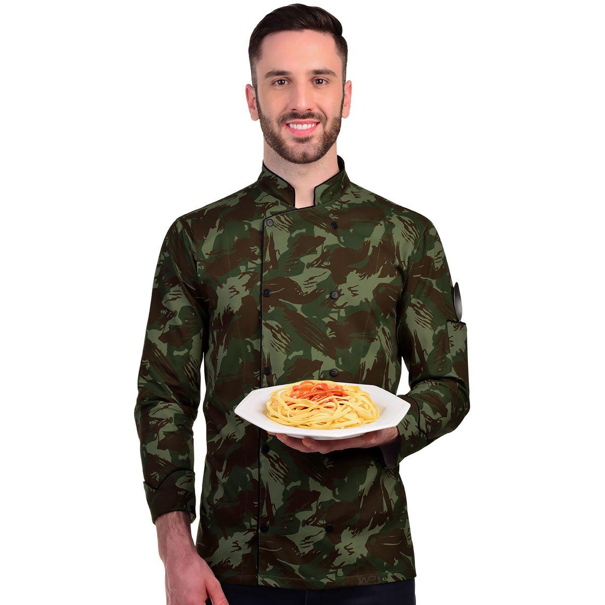 Dólmã Camuflado Chef de Cozinha Exército Brasileiro