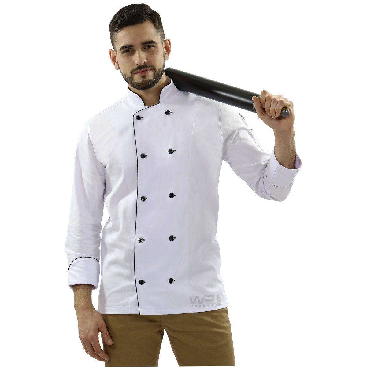 Dólmã Chef de Cozinha Tradicional  Sarja 100% algodão