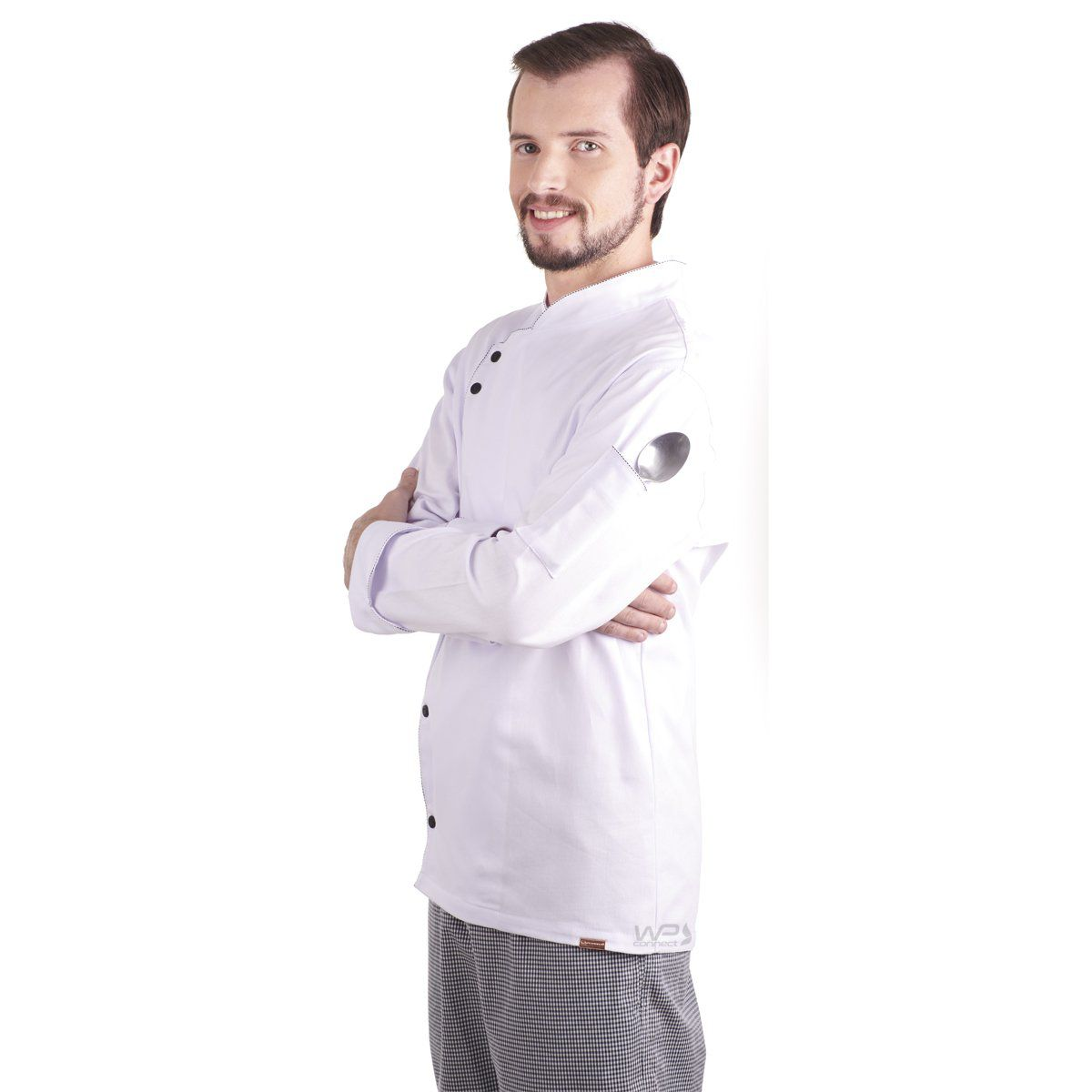Dólmã Chef de Cozinha Francês Uniforme Restaurante Unissex