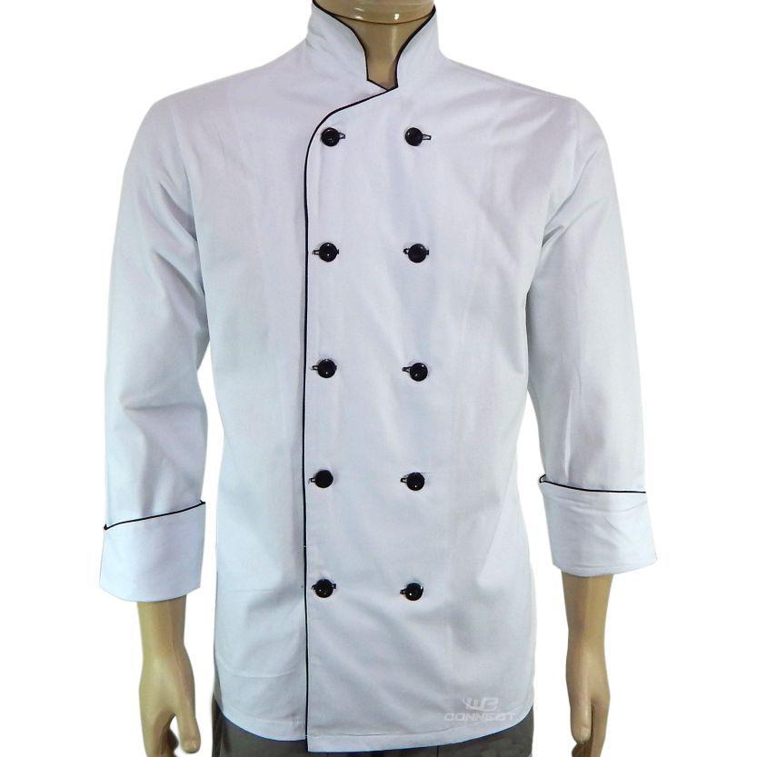 Dólmã Chef de Cozinha Unissex Sarja