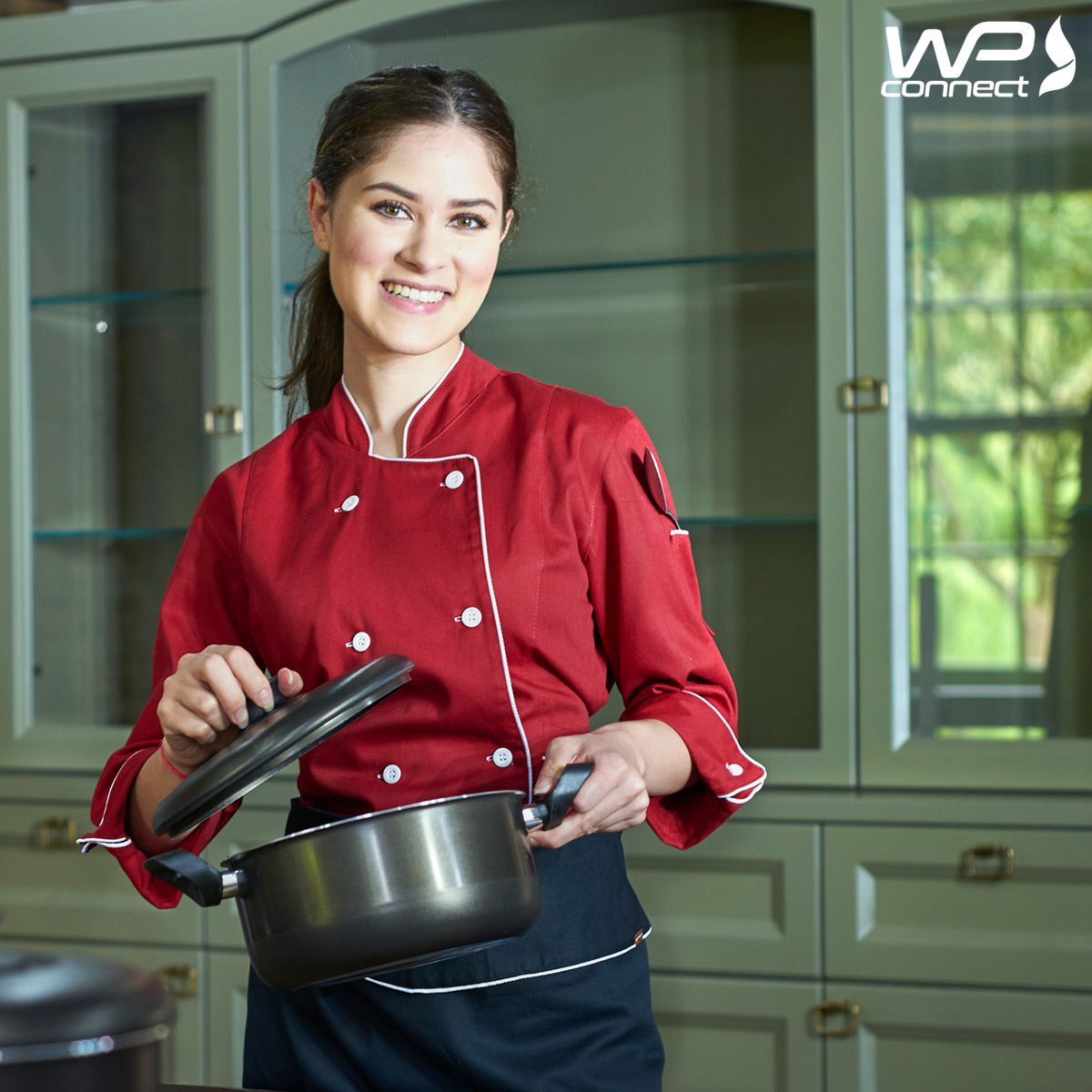 Dólmã Chef Feminino Vermelho Gastronomia Cozinha