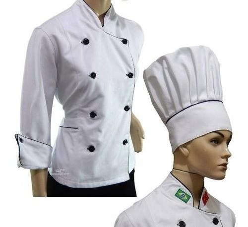 Dolma Feminino + Chapéu Chef 100% Algodão