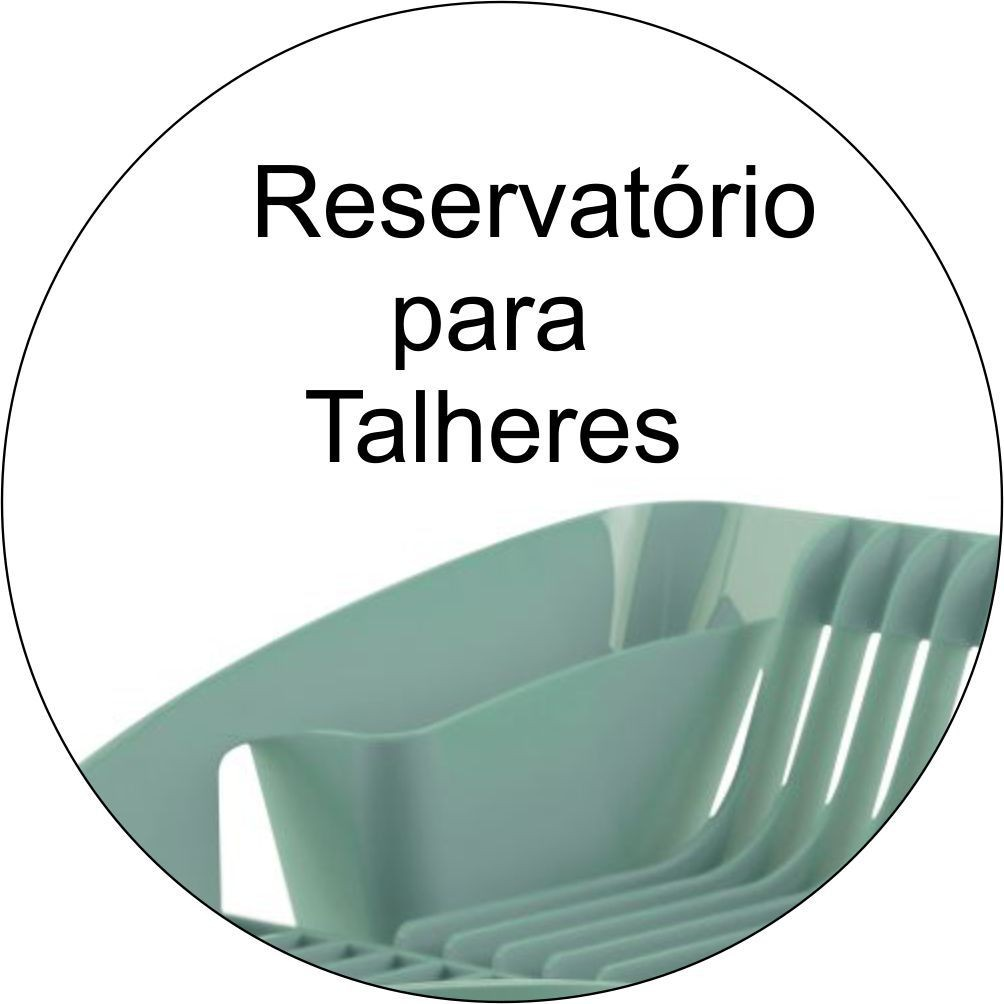 Kit Pia Para Louça Escorredor 10 Pratos + Suporte Detergente e Bucha 650ml